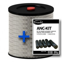 Combo HEPA replacement filter (RHEPA12)and prefilters (ANCKIT)  MA1 - HV500 - HV300 (RHEPA12)